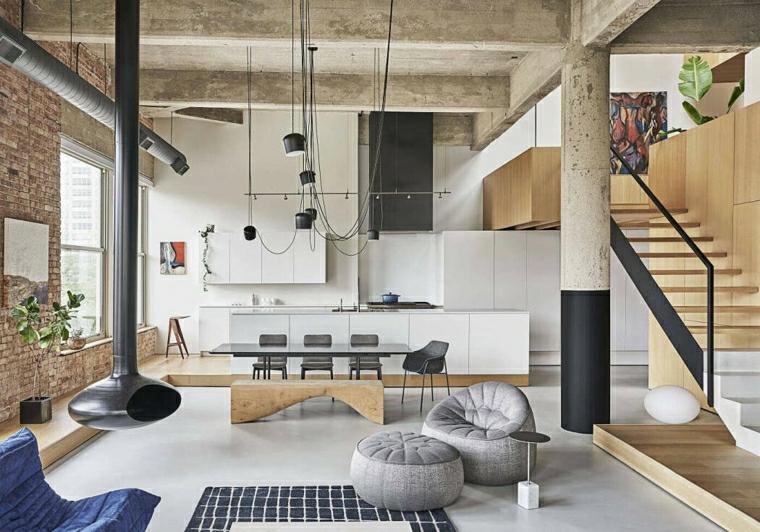 Come arredare sala e salotto insieme, open space con cucina e tavolo da pranzo