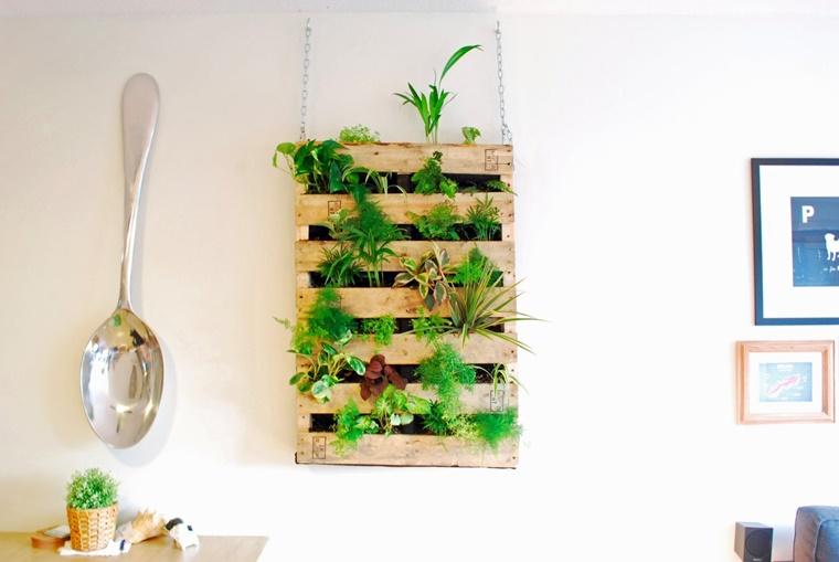 orto verticale pallet interno appartamento