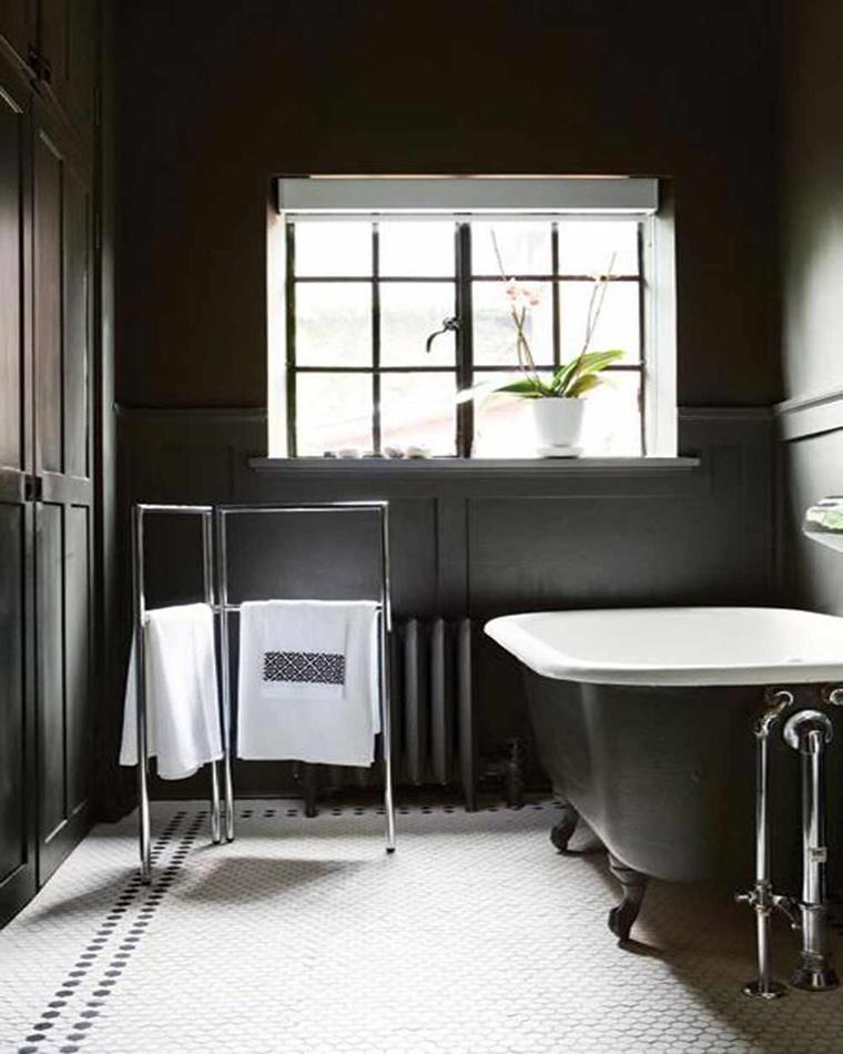 pavimento bianco nero vasca libera
