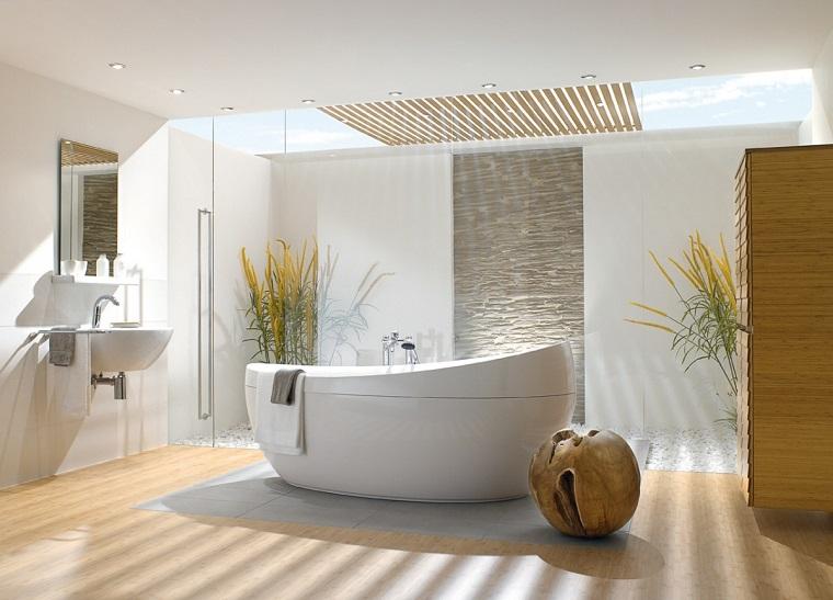 pavimento parquet bagno vasca moderna centrale