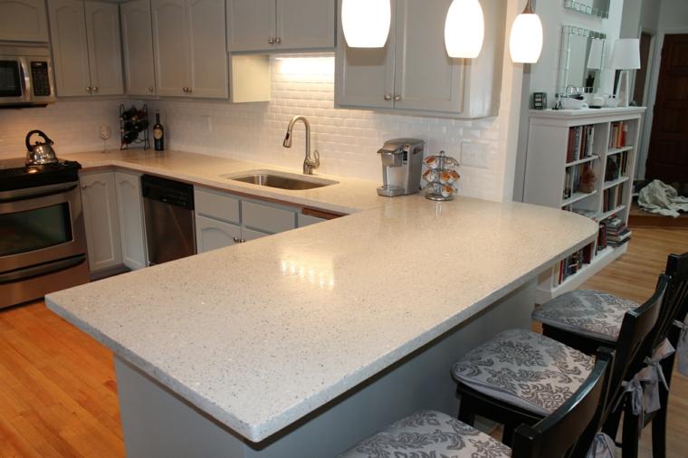 Top per cucine alcune idee originali per i piani da - Piano cucina marmo ...