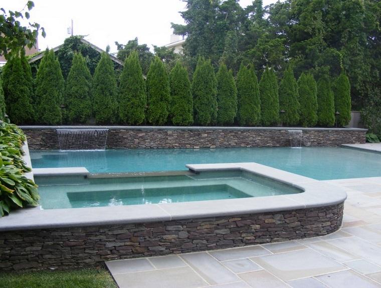 piante da esterno cipressi privacy piscina
