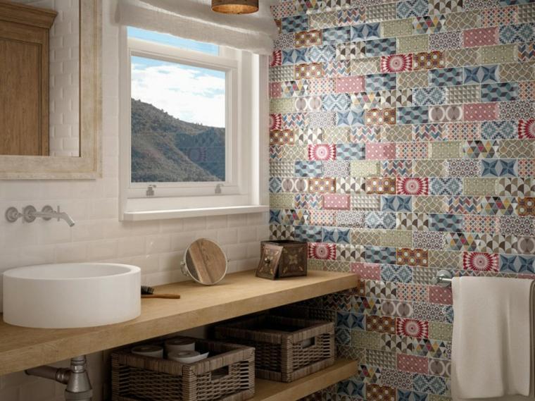 piastrelle bagno mosaico colori particolari