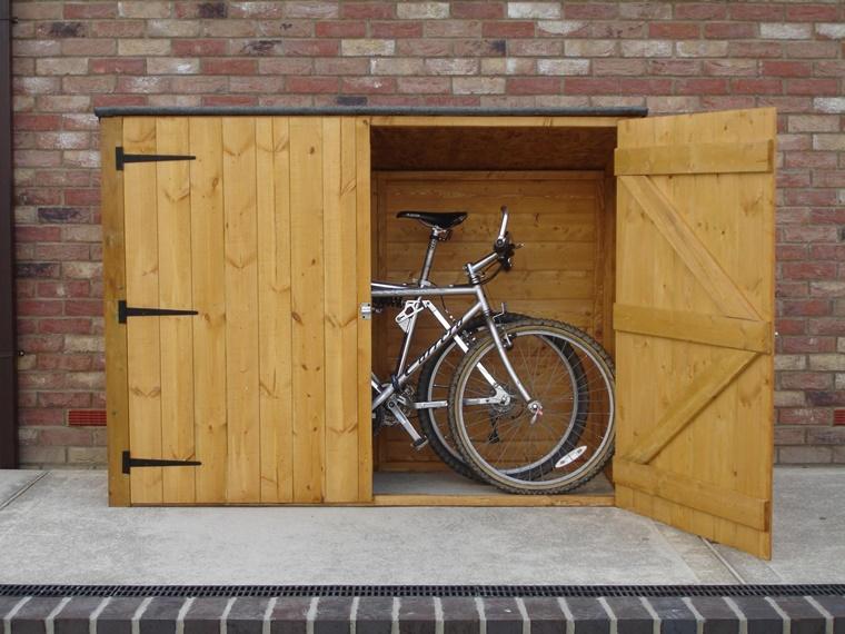 Portabiciclette da parete soluzione ideale e anche di design - Box bici da giardino ...