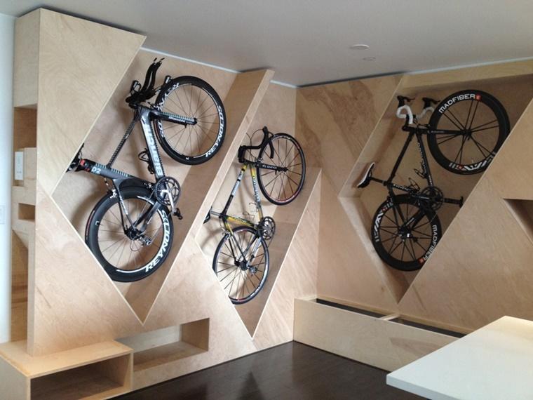 Portabiciclette da parete soluzione ideale e anche di - Portabici in legno ...