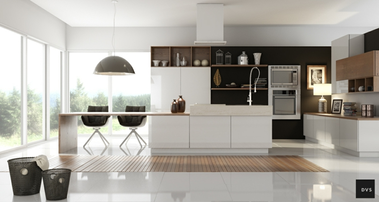 Cucine moderne bianche e nere idee in piu per arredare la cucina