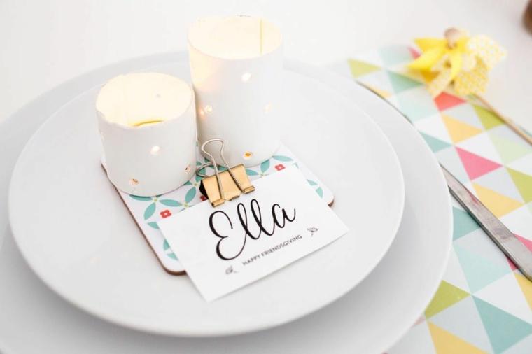 regali di natale originali decorazione candela con bigliettino personalizzato