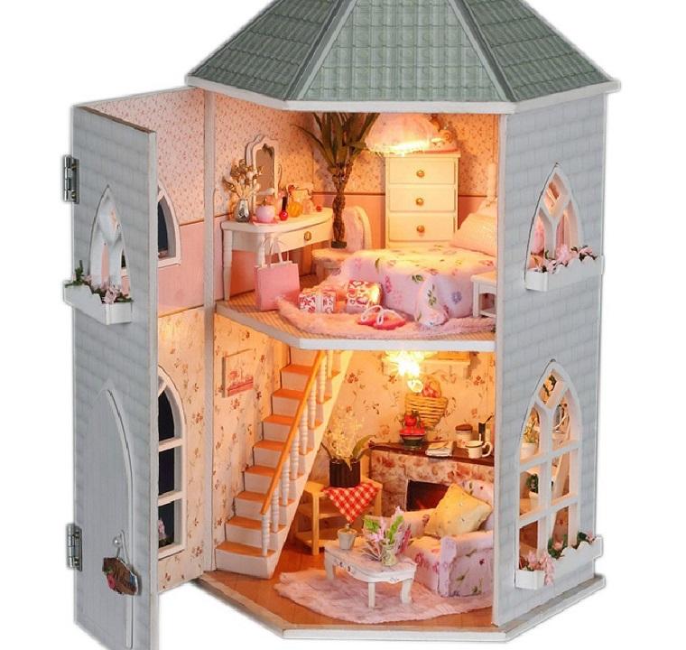 regali originali casetta bambole legno