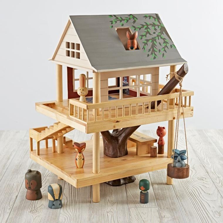 regali originali legno casetta bambole