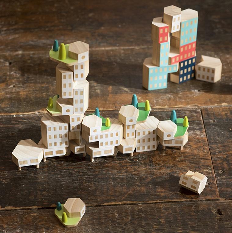 regali originali moderni legno gioco costruzioni