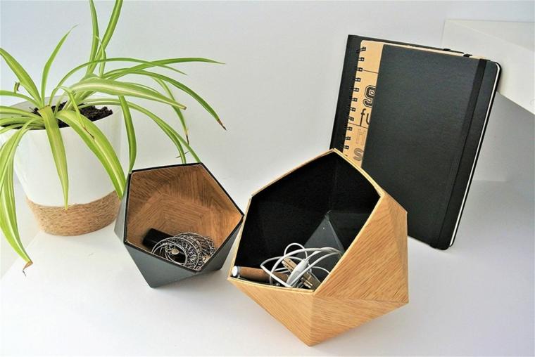 regalo di natale per lui scatole di legno dipinte di nero per gioielli