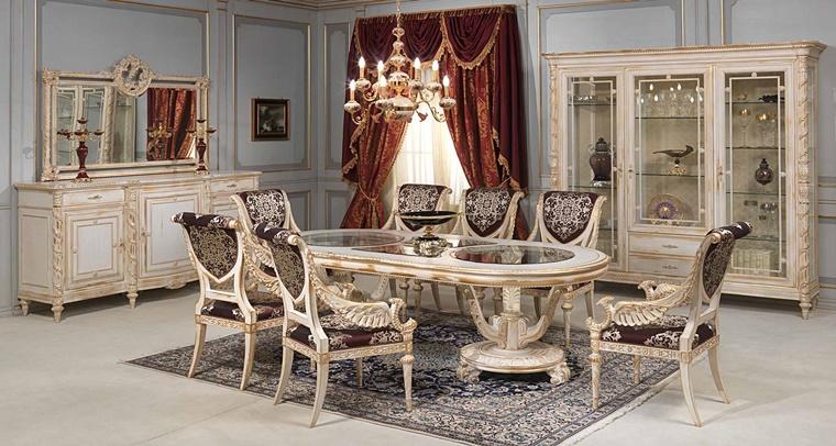 sala da pranzo classica molto lussuosa