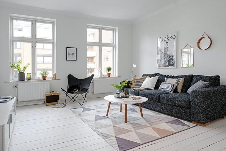 Salotti moderni in stile minimal idee nuove di tendenza for Quadri minimal