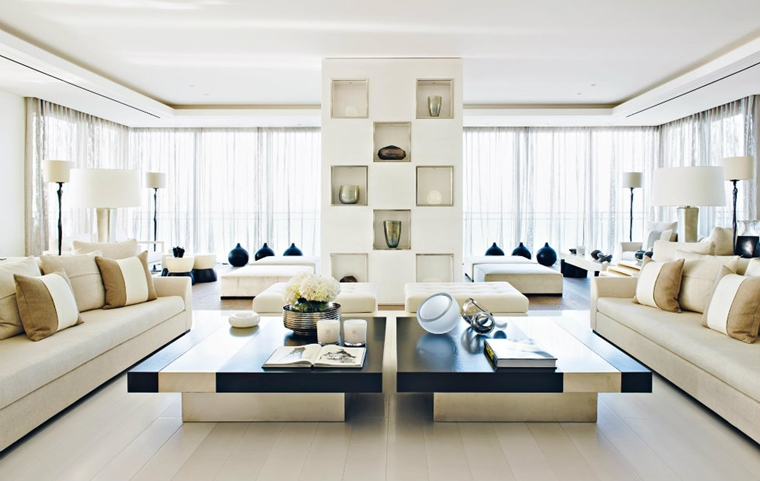 Salotti moderni in stile minimal- idee nuove di tendenza