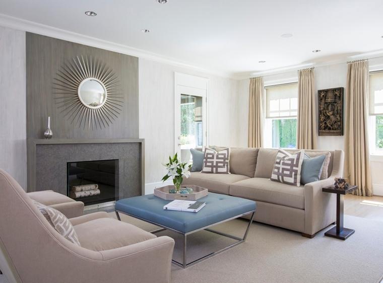 salotto divani beige decorazione stile pareti