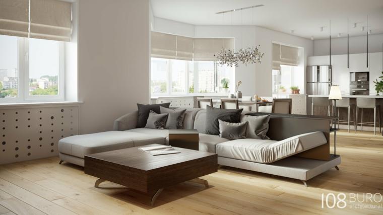 Stile moderno di buro 108 idee per la casa di legno for Salotto elegante