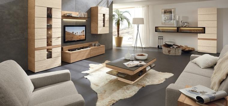 salotto moderno colori beige grigio