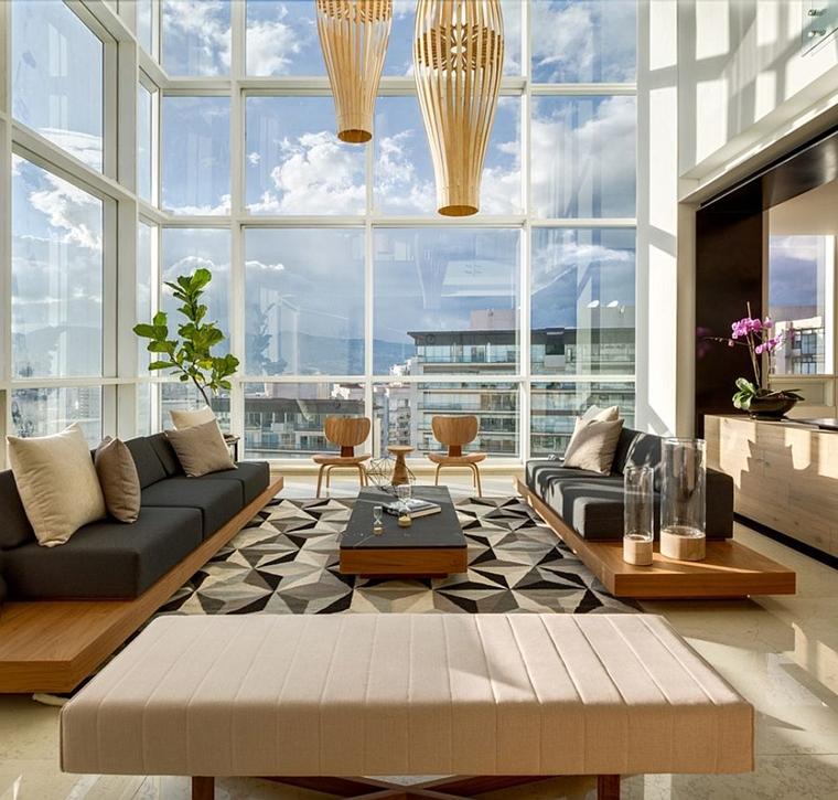 salotto moderno colori grigio beige decorazione splendida