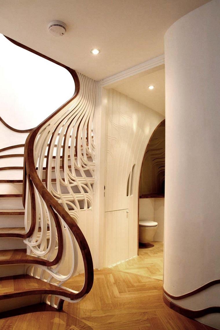 scale moderne per interni corrimano inusuale