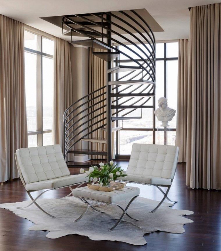 scale design interno spirale alluminio