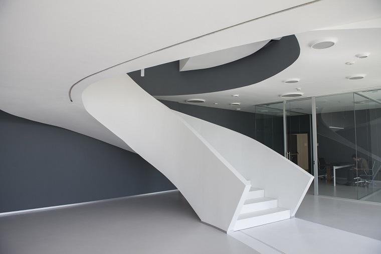 scale moderne colore bianco forma design