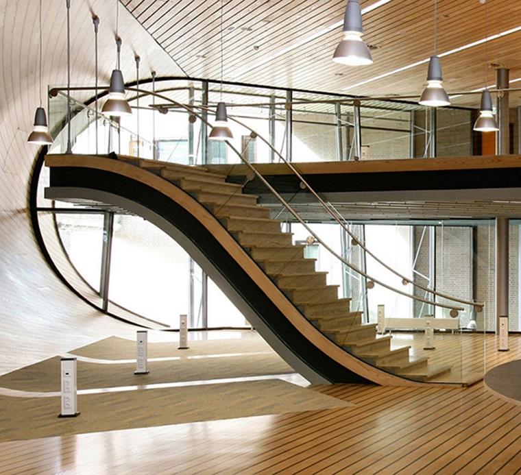 scale moderne legno forma scivolo