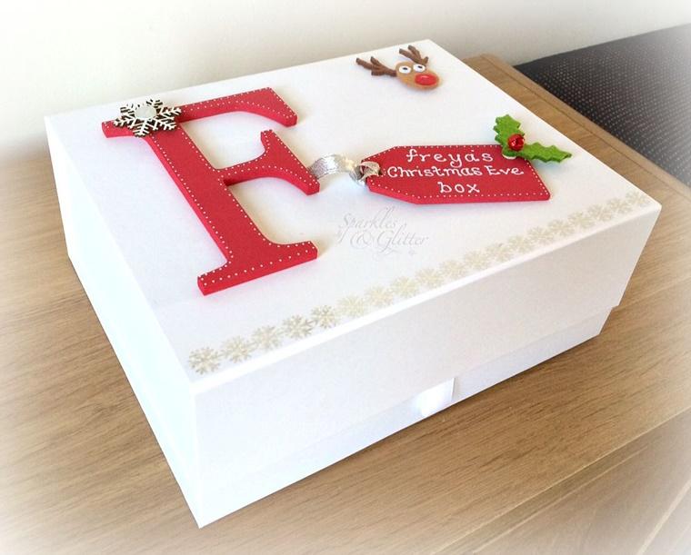 scatola natalizia legno personalizzato lettera