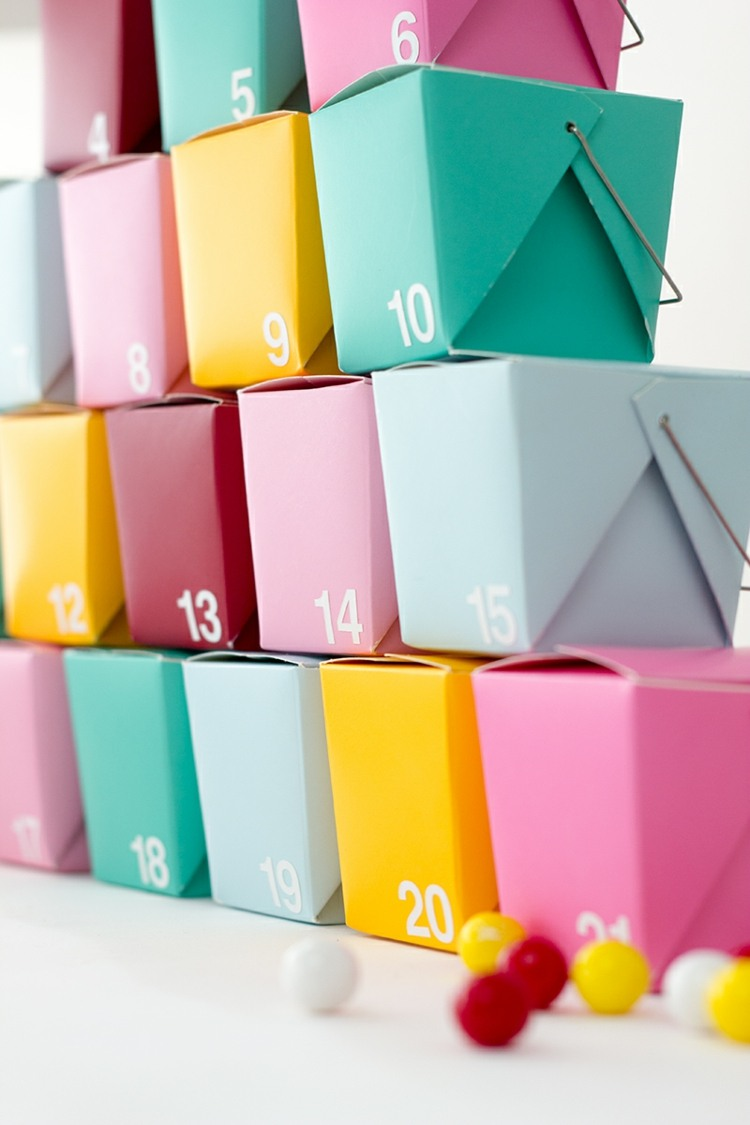 scatoline carta fai te ogni giorno avvento