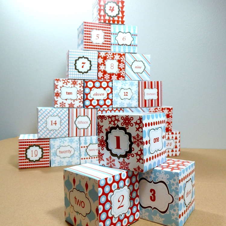 scatoline carta fai te piccoli regali attesa natale