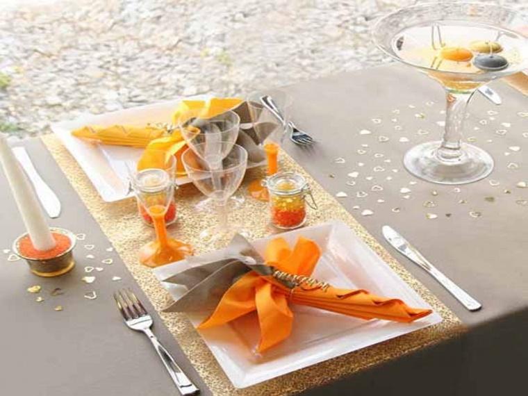 segnaposto arancione grigio elegante divertente