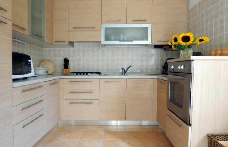 semplice beige cucina mobili legno