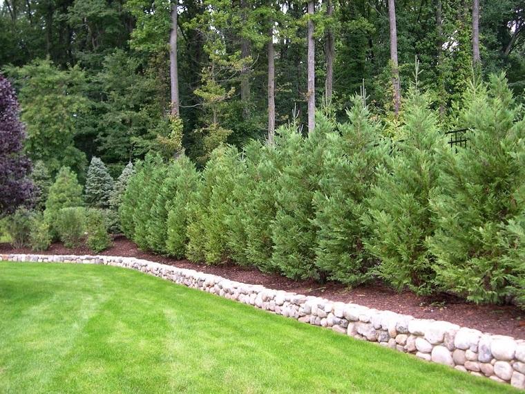 separe da giardino realizzato pini