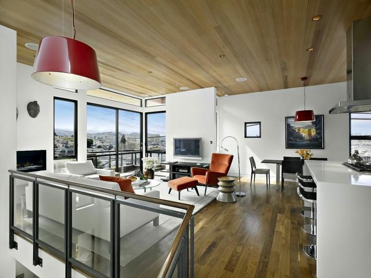Plafoniere A Tetto : Illuminazione tetto in legno idee innovative e di stile