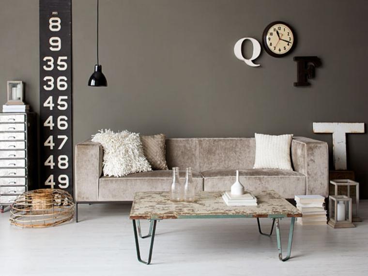 soggiorno contemporaneo stile industriale decorazioni fai te