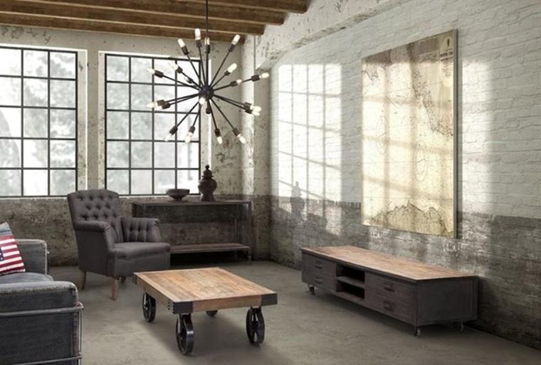 soggiorno moderno incredibile stile industriale