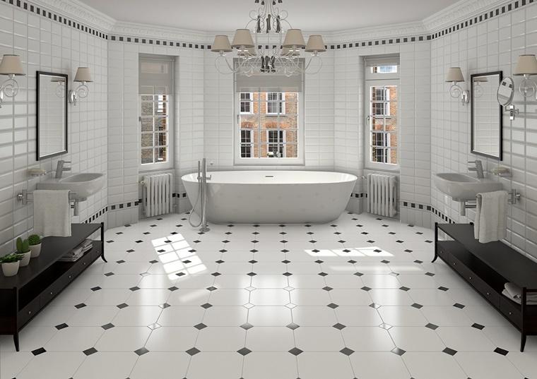 stanza da bagno grande mobiletti neri