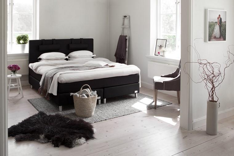 stanza letto contemporaneo stile rustico