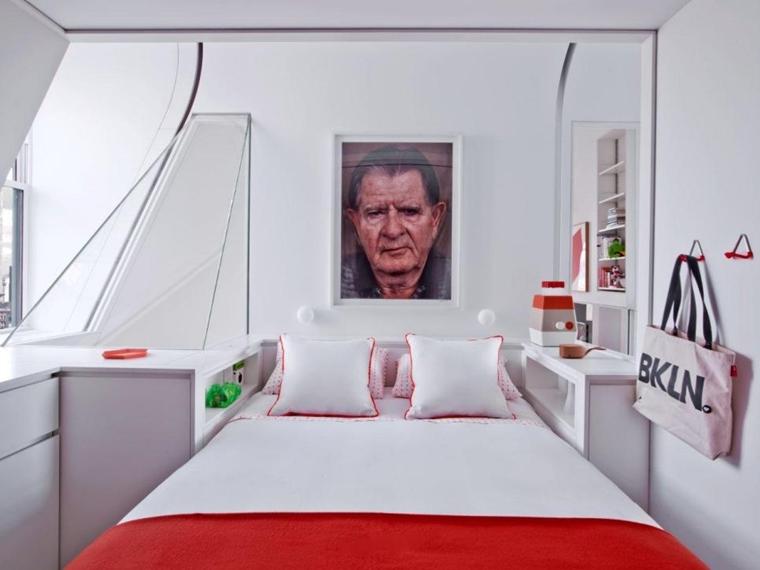 Arredare camera da letto piccola idee salvaspazio - Quadro sopra letto ...