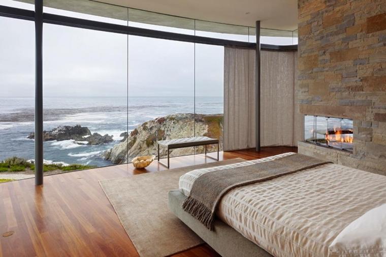 stanza letto stile minimal bella vista