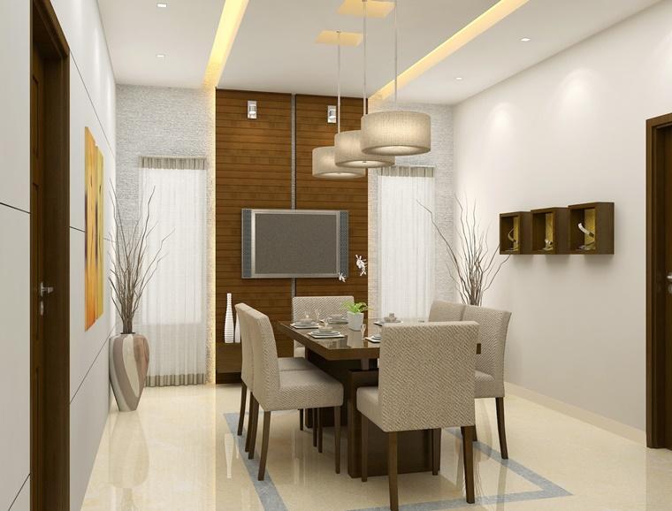 Sala da pranzo moderna idee d 39 arredamento per la zona - Lampadario sala da pranzo moderna ...