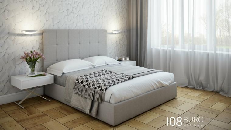 Stile moderno di buro 108 idee per la casa di legno for Camera matrimoniale e piani bagno