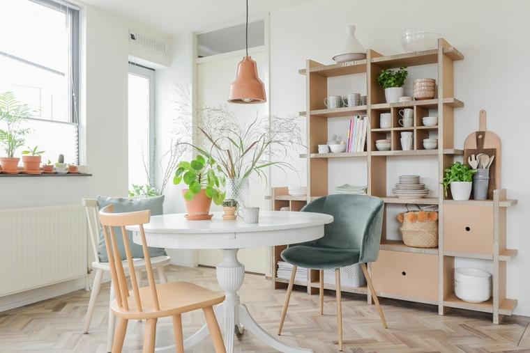 tavolo da pranzo con sedie diverse mobili sala da pranzo moderni