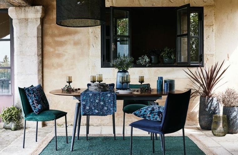 tavolo da pranzo di legno forma ovale set di mobili da pranzo per esterno