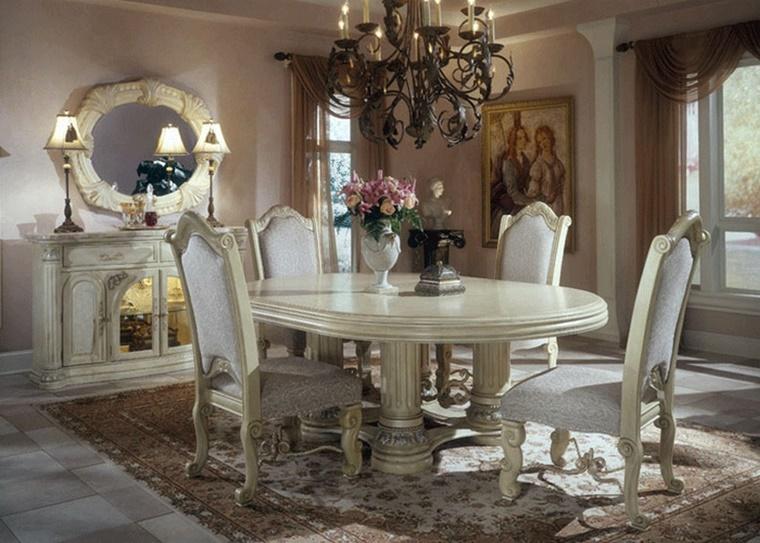 tavolo sedie credenza stile vittoriano
