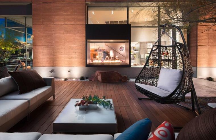 terrazzo moderno pavimento parquet dondolo