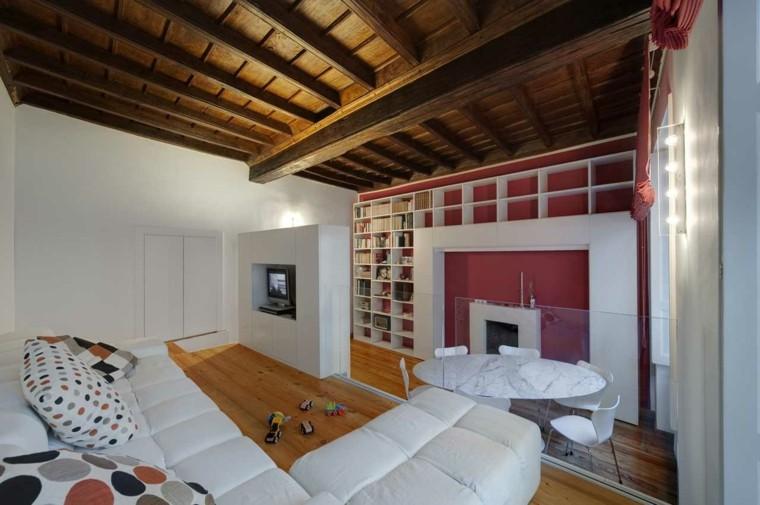 tetto legno travi vista mansarda