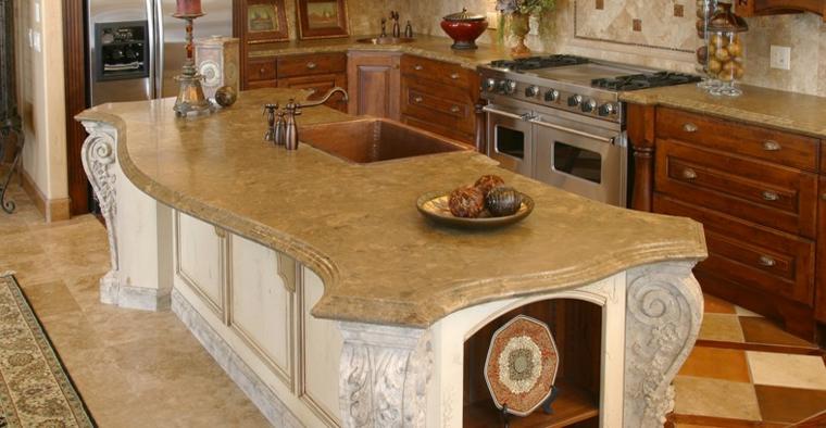 top per cucine classico legno elegante