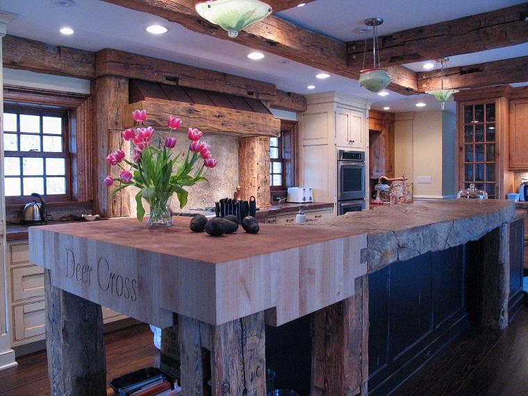 top cucina stile vintage legno reciclato