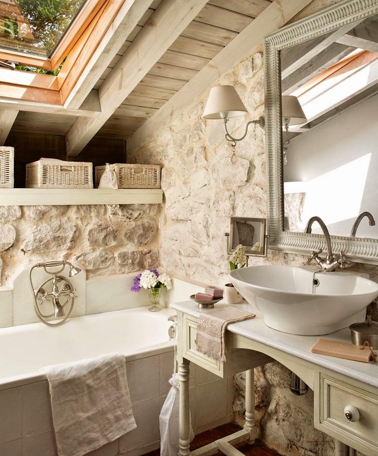 trave legno arredo classico bagno
