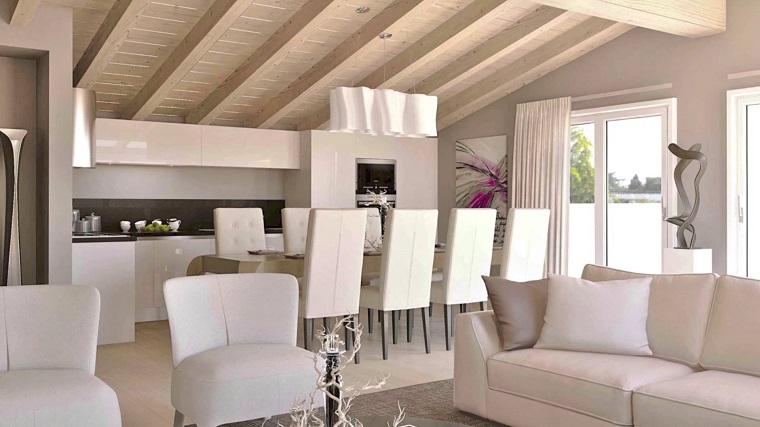 Trave di legno una scelta diversa per rinnovare la casa for Salotto casa moderna